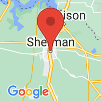 Map of SHERMAN TX US
