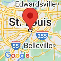 Map of Saint Louis, MO US