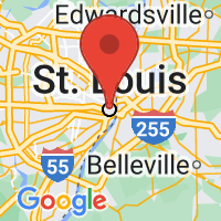 Map of Saint Louis, MO