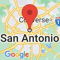 Map of San Antonio, TX US