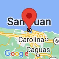 Map of San Juan, PR
