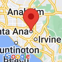Map of Santa Ana CA US