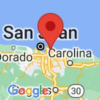 Map of Santurce, PR US
