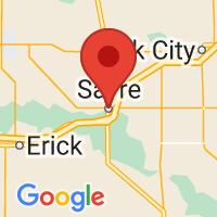 Map of Sayre, OK US