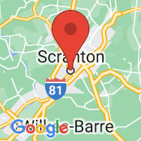 Map of Scranton, PA