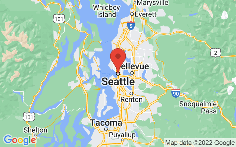 Map of Seattle, WA US