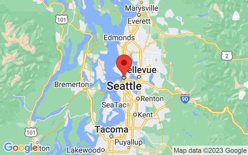 Map of Seattle, WA US