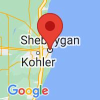 Map of Sheboygan WI US