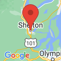 Map of Shelton, WA US