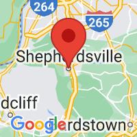 Map of Shepherdsville, KY