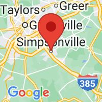 Map of Simpsonville SC US