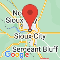 Map of Sioux City IA US