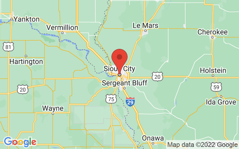 Map of Sioux City, IA US