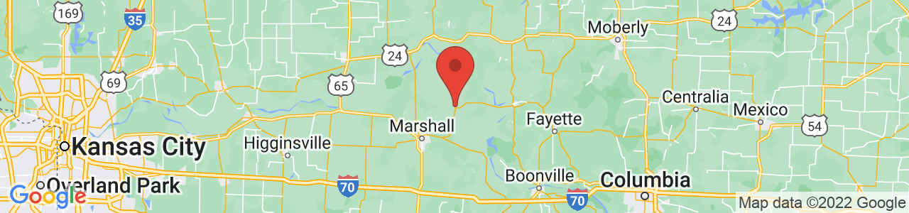 Map of Slater, MO