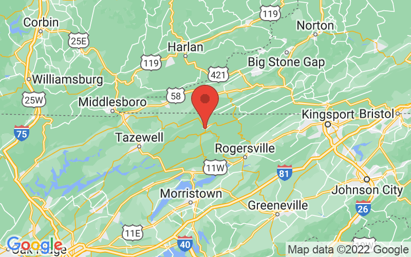 Map of Sneedville, TN