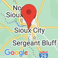 Map of South Sioux City, NE US