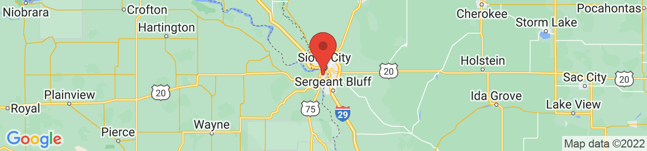 Map of South Sioux City, NE