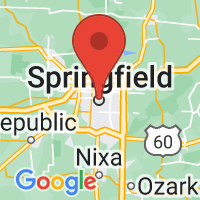 Map of Springfield, MO US