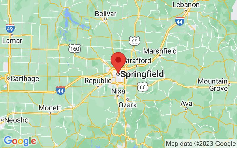 Map of Springfield, MO US