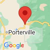 Map of Springville, CA