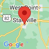 Map of Starkville, MS
