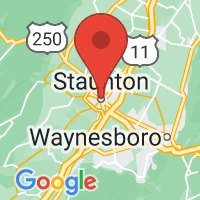 Map of Staunton, VA US