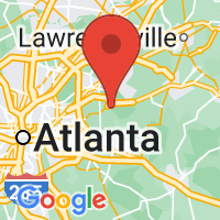 Map of Stone Mtn GA US