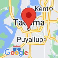 Map of Tacoma, WA