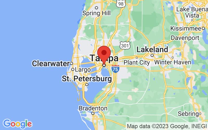 Map of Tampa, FL US
