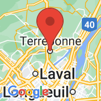 Map of Terrebonne, QC