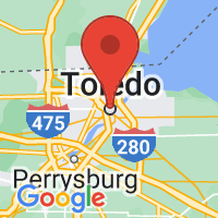Map of Toledo, OH US