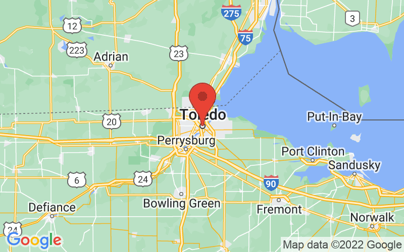 Map of Toledo, OH