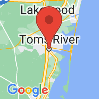 Map of Toms River, NJ US