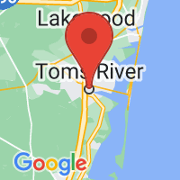 Map of Toms River, NJ