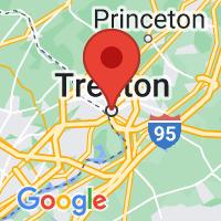 Map of Trenton, NJ US