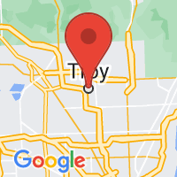 Map of Troy MI US