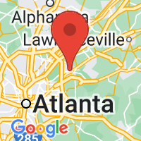 Map of Tucker GA US