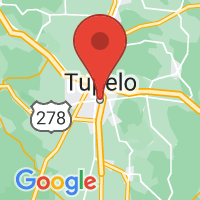 Map of Tupelo MS US