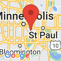 Map of Twin Cities, MN US