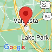 Map of Valdosta, GA