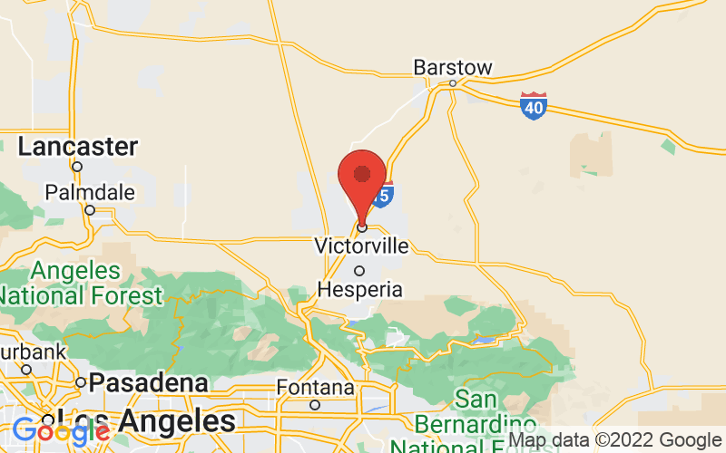 Map of Victorville, CA US
