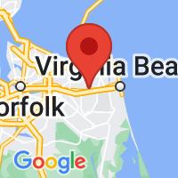 Map of Virginia Bch VA US