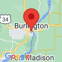 Map of W Burlington IA US