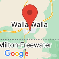 Map of Walla Walla, WA US