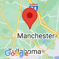 Map of Wartrace, TN US