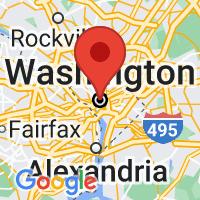 Map of Washington DC US