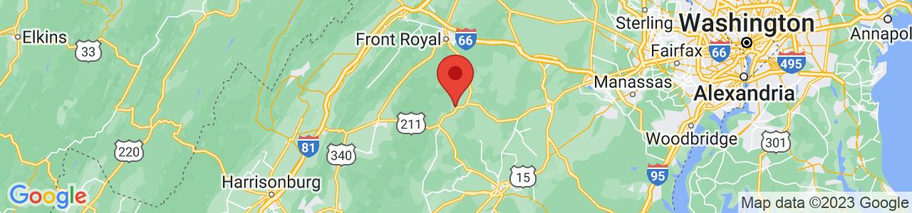 Map of Washington, VA