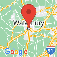 Map of Waterbury, CT US