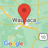 Map of Waupaca, WI