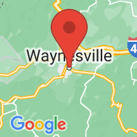 Map of Waynesville, NC US